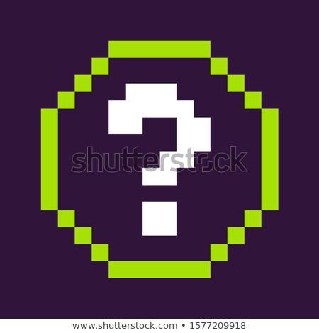 Punto di domanda cerchio pixel gioco icona vettore Foto d'archivio © robuart