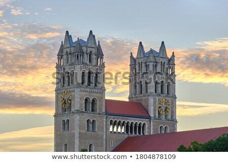 Kilise Münih kentsel mimari Avrupa kule Stok fotoğraf © manfredxy