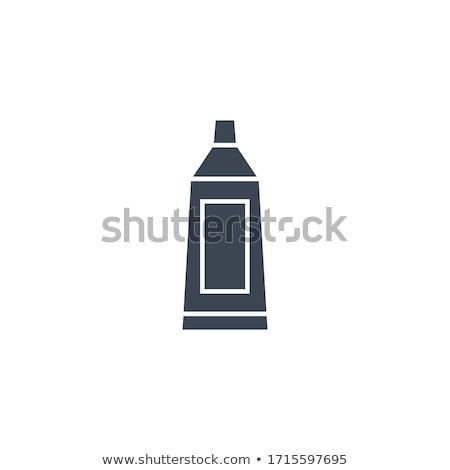 Creme dental tubo vetor ícone isolado branco Foto stock © smoki