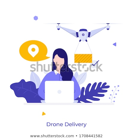 Delivery with Innovative Technology Drone Courier Stock photo © robuart