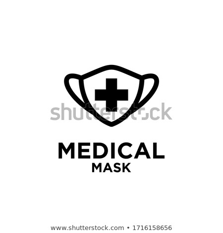 Face Mask Medical Cross Icon Outline Illustration Stock photo © pikepicture