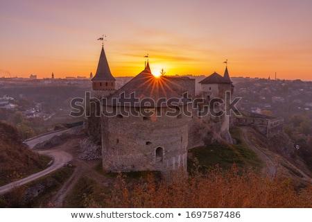 中世 城 牙城 ウクライナ 美しい 日没 ストックフォト © Arsgera