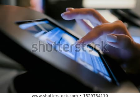 стороны черный интерактивный панель технологий Сток-фото © dolgachov