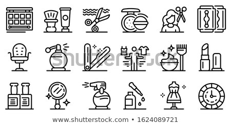 Spa Salon Hairdresser and Stylist Icons Set Vector Stock photo © robuart