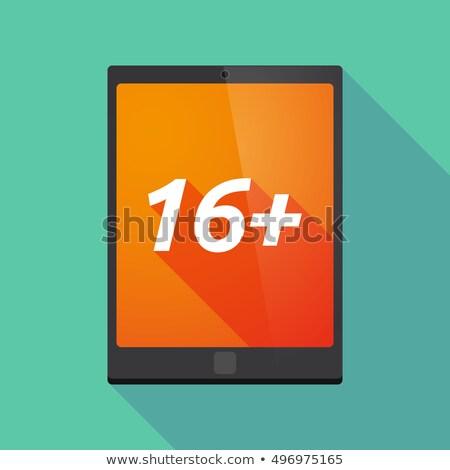 communication 16 flat icons Stock photo © ayaxmr