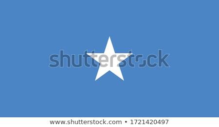 Somalië vlag witte teken reizen afrika Stockfoto © butenkow