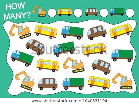 Kleur aantal onderwijs spel kinderen cartoon Stockfoto © natali_brill