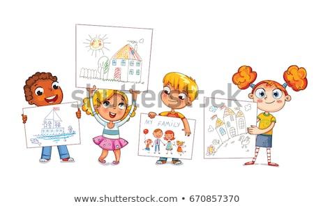 El renk mum boya kâğıt Stok fotoğraf © yupiramos