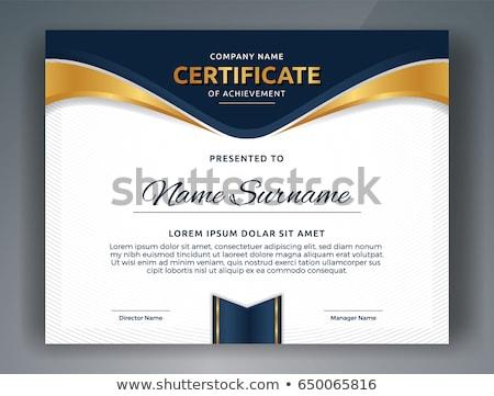 Arany bizonyítvány elismerés terv háttér arany Stock fotó © SArts