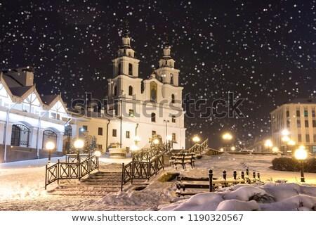 Heilige geest kathedraal Wit-Rusland centraal orthodox kerk Stockfoto © borisb17