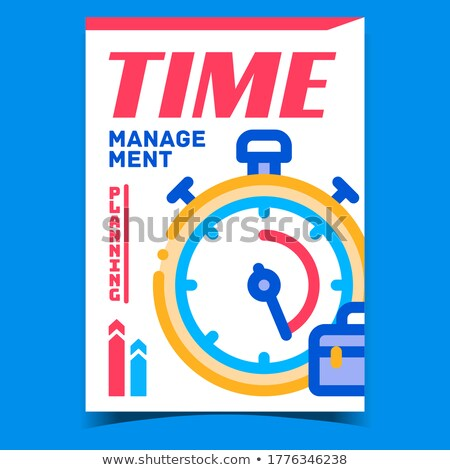 Time Management Creative Promotional Poster Vector Stock photo © pikepicture