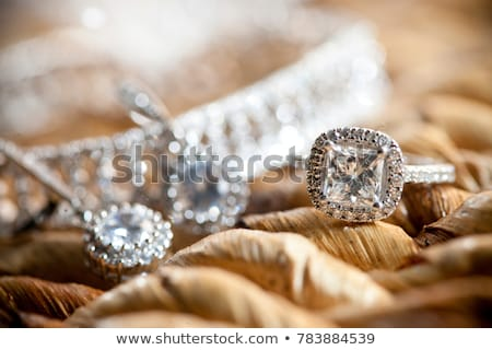 Kettő gyönyörű gyémántok nagy 3D kép Stock fotó © AlexMas