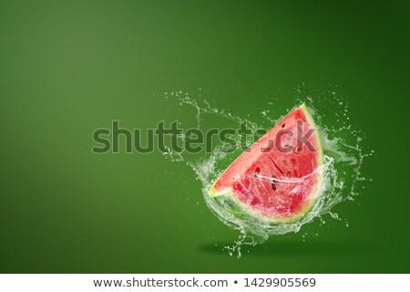 Szeletek görögdinnye zöld friss nyár víz Stock fotó © elly_l