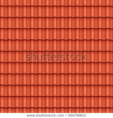 Red tiled roof seamless pattern. Stock photo © Leonardi