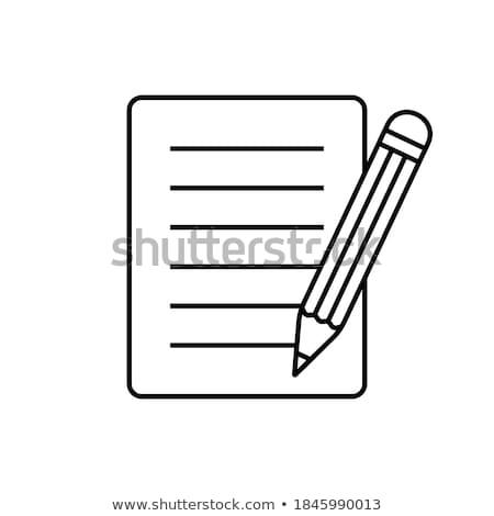 black and white pencils Stock photo © marylooo