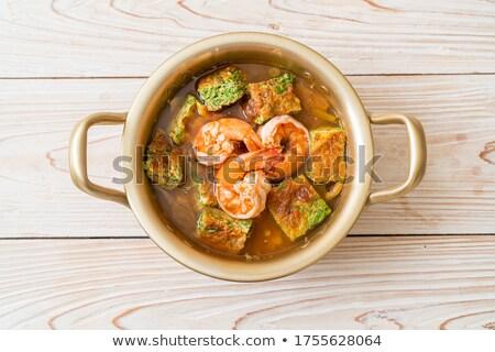 Sıcak köri tay gıda balık Asya Stok fotoğraf © pongam