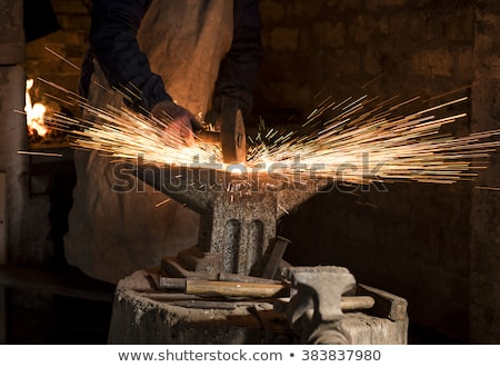 craftsman striking with a hammer Stock photo © photography33