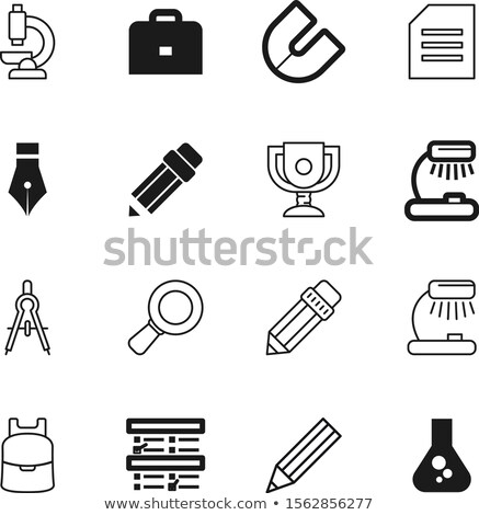 yellow file divider and magnifier Stock photo © devon