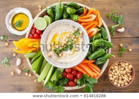 野菜 · ディップ · 食品 · 光 · 背景 · プレート - ストックフォト © M-studio