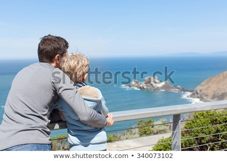 Father and son by the seashore Stock photo © photography33