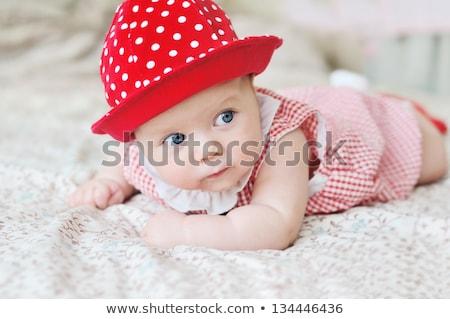 Fiatal baba pocak kéz boldog szemek Stock fotó © jirkaejc