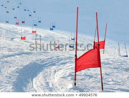 Ski downhill course stock photo © Photoline