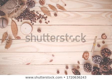 コーヒー豆 紅葉 葉 秋 新鮮な トースト ストックフォト © mobi68