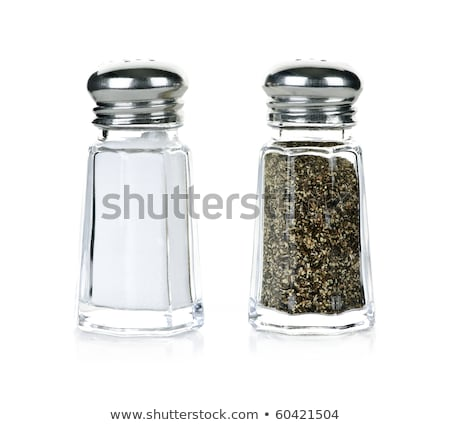 Glass salt and pepper shakers isolated Stock photo © ozaiachin