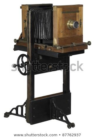 Nosztalgikus fából készült kamera stúdiófelvétel kivágás vágási körvonal Stock fotó © gewoldi