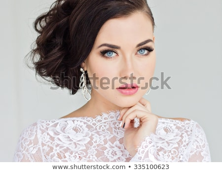 Make up. Eyeshadow makeup. Jewelry  Stock photo © Victoria_Andreas