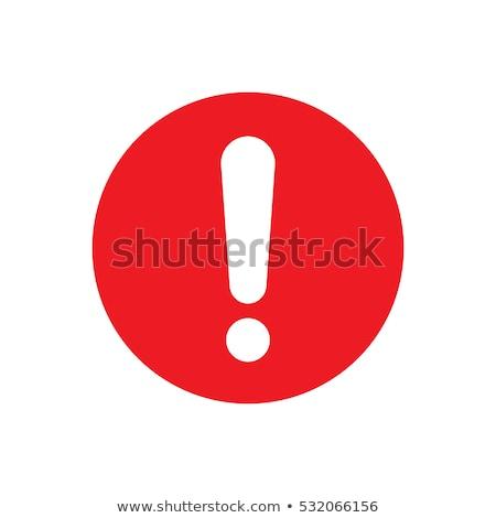 ünlem işareti kırmızı beyaz imzalamak nesne anlamaya Stok fotoğraf © timbrk