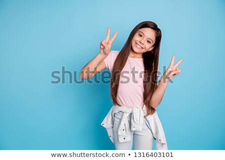 portrait of adorable young girl stock photo © aikon