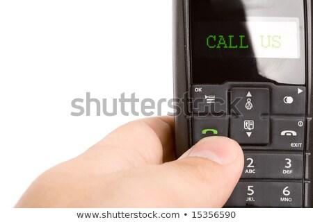 drótnélküli · telefon · izolált · fehér · iroda · telefon - stock fotó © chesterf