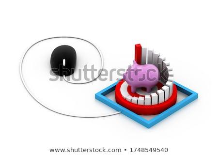 マウス 成功 ターゲット グラフ 豚 仕事 ストックフォト © 4designersart