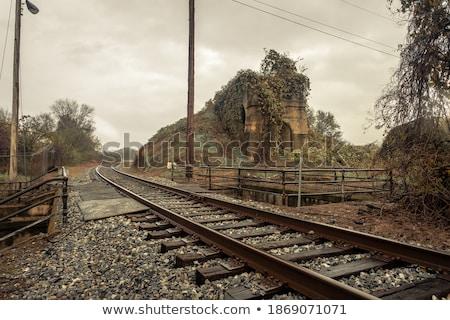 Rond curve ingesteld spoorweg Stockfoto © rhamm