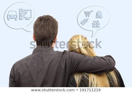 Femmes hommes sexe rivalité dominance homme Photo stock © kaczor58