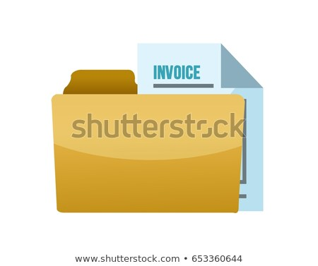Folder With Tax Documents Illustration Design Over White Photo stock © alexmillos