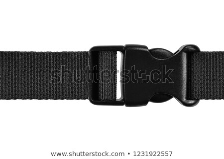 Black plastic buckle on strap isolated Stock photo © luckyraccoon