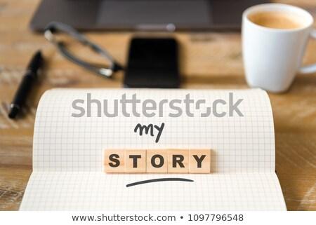 Meu óculos escritório pequeno menina documentos Foto stock © jarp17