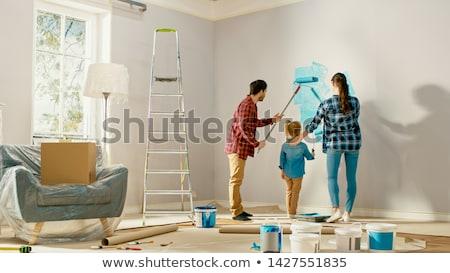 couple renovating apartment stock photo © hasloo