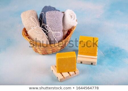 Natural Curcuma Turmeric soap Stock photo © milsiart