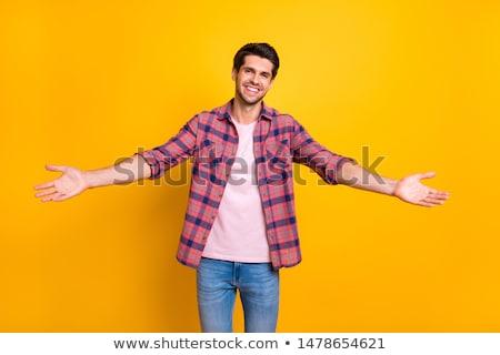 Atraente feliz cara eriçar grande sorrir Foto stock © racoolstudio