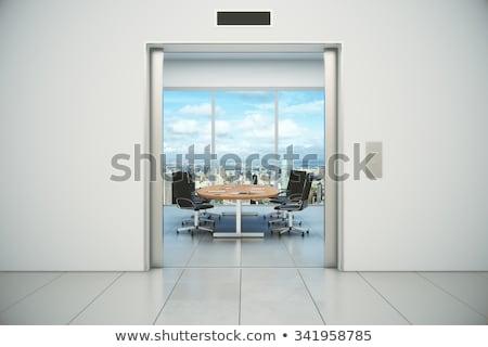 閉店 会議室 ドア 現代 ビジネス インテリア ストックフォト © stevanovicigor