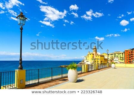 camogli church and seaside stock photo © antonio-s