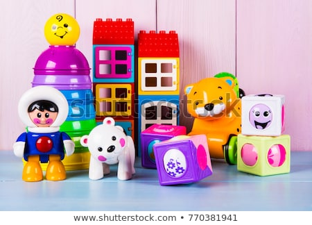 set of color plastic toys stock photo © papa1266