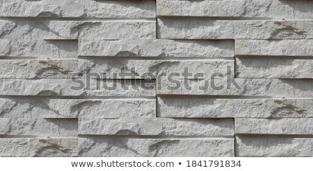 cinza · tijolos · feito · à · mão · concreto · venda - foto stock © rhamm
