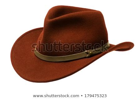 Rosolare Hat ampia isolato bianco Foto d'archivio © Balefire9