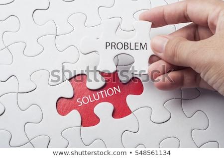 Solução problema vermelho bola centro verde Foto stock © grechka333