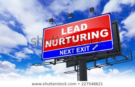 Lead Nurturing on Red Billboard. Stock photo © tashatuvango