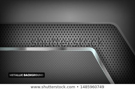 abstract metallic silver vector frame stock photo © saicle